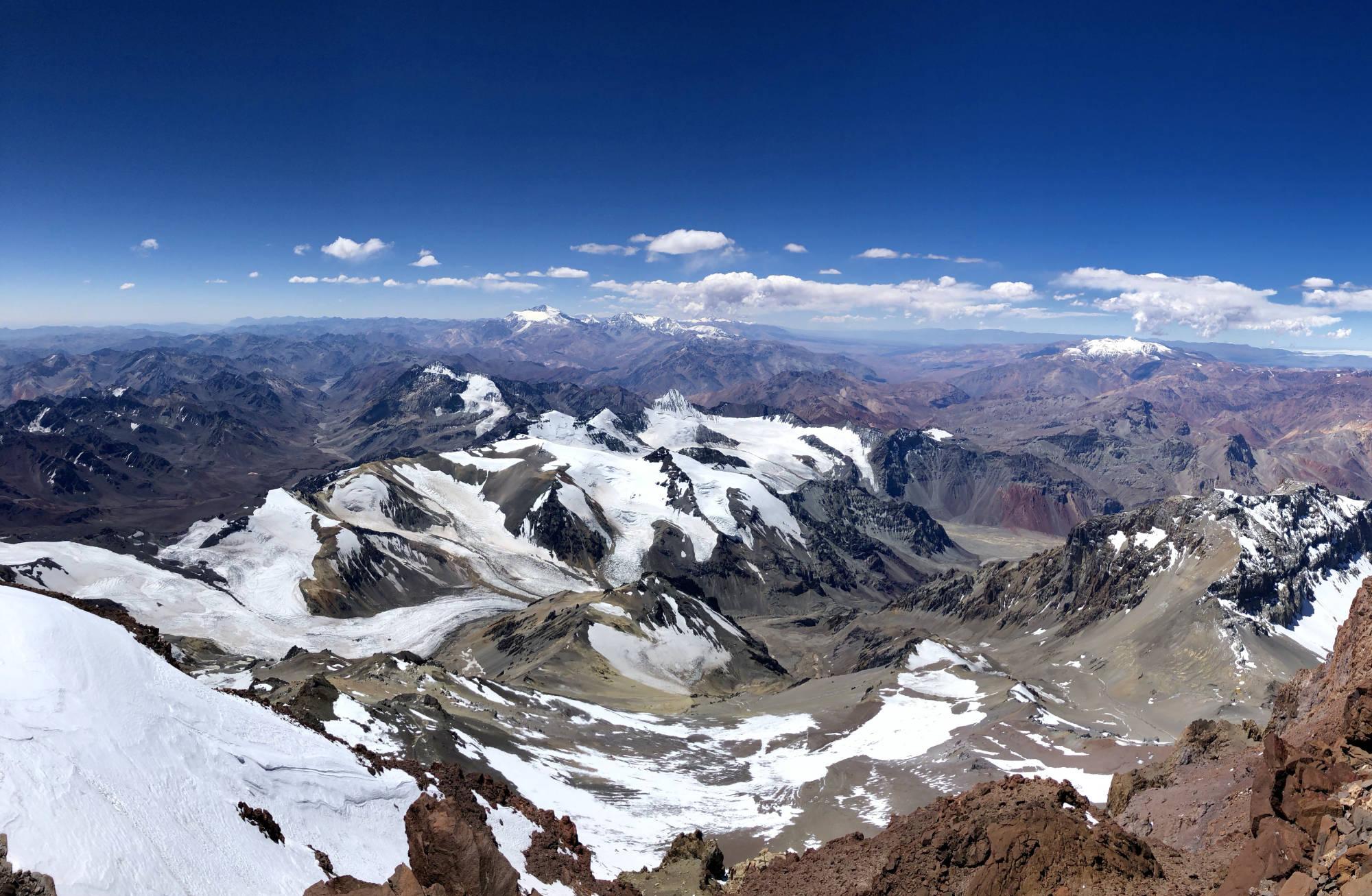 Le panoramam depuis le sommet